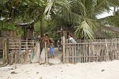 Filipino Fishing Village Family