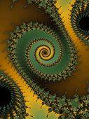 Green fractal spiral