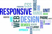 image of query  - A word cloud of responsive web design related items - JPG