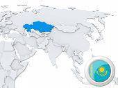 Kazakhstan On Map Of Asia