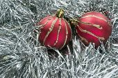 Two Red Christmas Balls