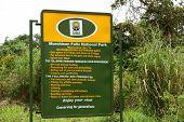 Murchison Falls National Park Entrance Sign