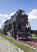 stock photo of xx  - Cargo Soviet locomotive 50 - JPG