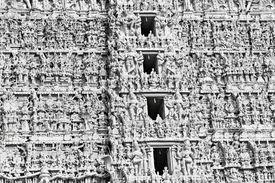 pic of meenakshi  - Different gods on Meenakshi temple facade - JPG