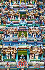 pic of meenakshi  - detail of meenakshi temple in madurai india - JPG