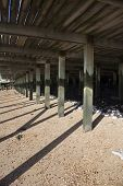 Underneath The Decking At Leigh-on-sea, Essex, England