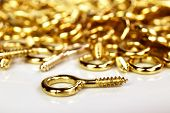 Golden hooks used by picture framers