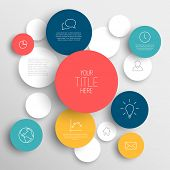 Vector abstract circles illustration / infographic template with place for your content