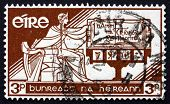 Postage Stamp Ireland 1958 Allegory Of Ireland And Constitution