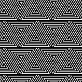 picture of hypnotic  - Black and White Hypnotic Background Seamless Pattern - JPG