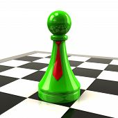 Green pawn