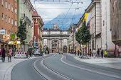 Triumphal Arch In Innsbruck, Austria.
