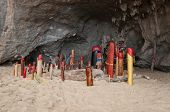 pic of phallus  - Wooden phalluses in Princess cave  - JPG