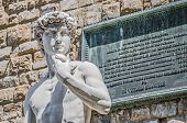 Michelangelo's David Statue In Florence, Italy