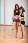 Cute pole dancers social networking