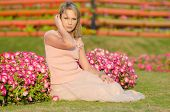 Young woman in Dubai Miracle Garden