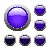Purple Glass Buttons