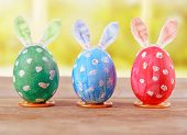 Easter Eggs With Bunny Ears