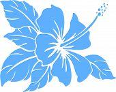 Hibiscus Flower. Silhouette