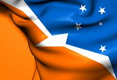 stock photo of tierra  - Flag of Tierra del Fuego Argentina - JPG