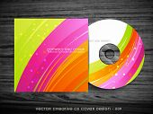 beautiful wave style cd cover design