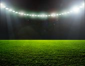 foto of spotlight  - On the stadium - JPG