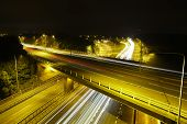 M25 Motorway at Night