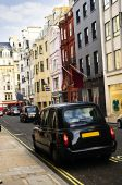 London Taxi On Shopping Street