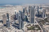 The Top View On Dubai Downtown From The Tallest Building