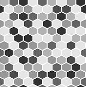 image of mayhem  - The geometric background made out of hexagons - JPG