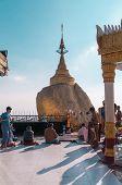 The Golden Rock, Myanmar-february 21,2014 :kyaiktiyo Pagoda