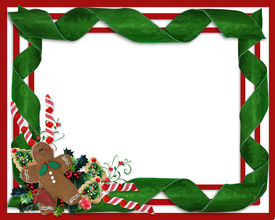 stock photo of candy cane border  - Image and Illustration composition for Christmas holiday background - JPG