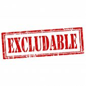 Excludable-stamp