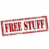 Постер, плакат: Free Stuff stamp