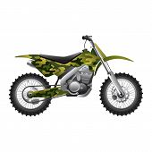 Camouflage Motorcycl
