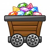 Mine cart with Diamonds