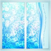 Vector illustration of elegance greeting card with bubbles