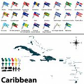 Political Map Of Caribbean