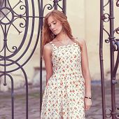 Fashion Red-haired Girl