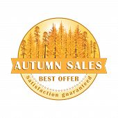 Autumn Sales Stamp / Label.