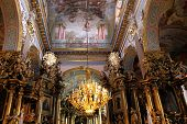 Interior of ancient church in Lviv