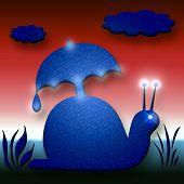 Snail with Umbrella