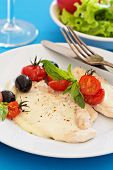 Chicken fillet roasted with mozarella