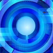 Abstract blue background with techno elements.