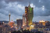 Macau, China city skyline.