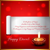 Vector diwali diya background with space for your text