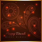 pic of diwali  - Vector artistic background of diwali - JPG