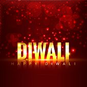 Vector diwali text background