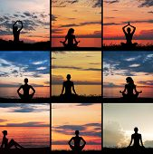 Zen, yoga and meditation. Collection of different pictures.
