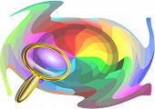Multicolor Background And Magnifier